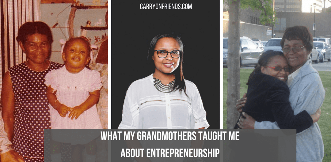 Kerry-Ann and her two grandmothers who taught her about entrepreneurship