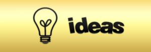 light bulb with word ideas