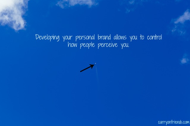 personal branding with plane flying high