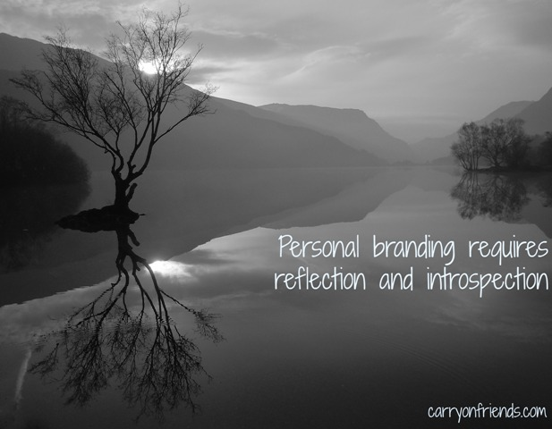tree reflected in water because personal branding requires reflection