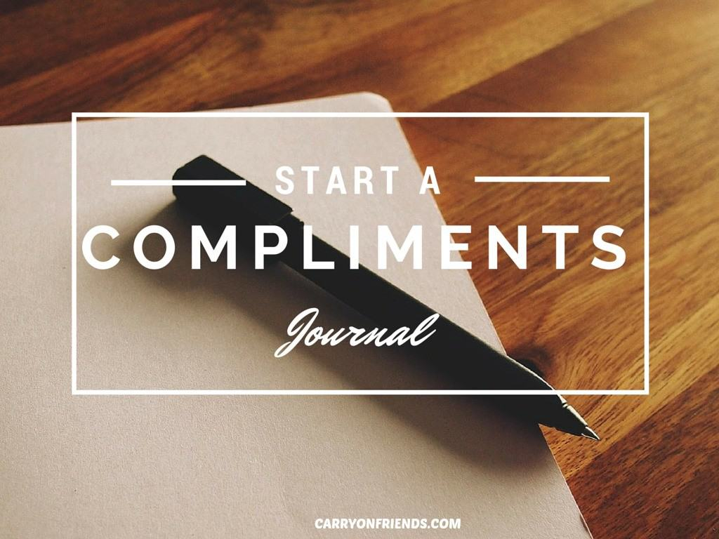 Pen on a book on a desk because Carry On Friends Suggests you Start a compliments journal