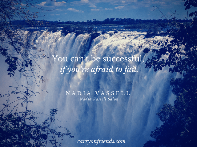 water falls with Nadia Vassell success definition