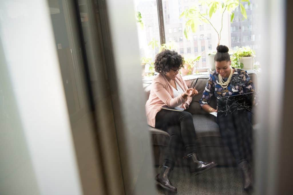 black women as friends in the office