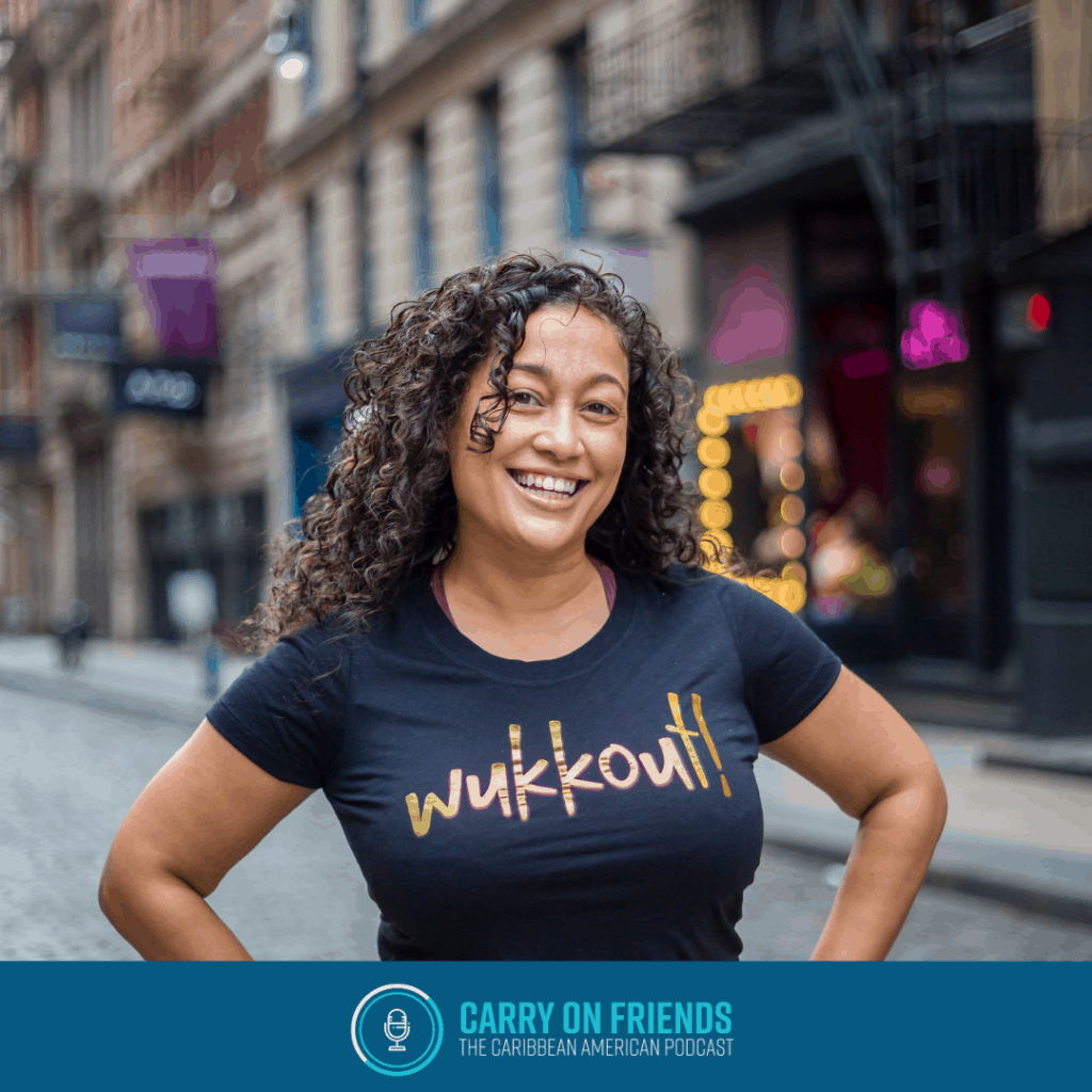 Krista of Wukkout on Carry On Friends the Caribbean American Podcast
