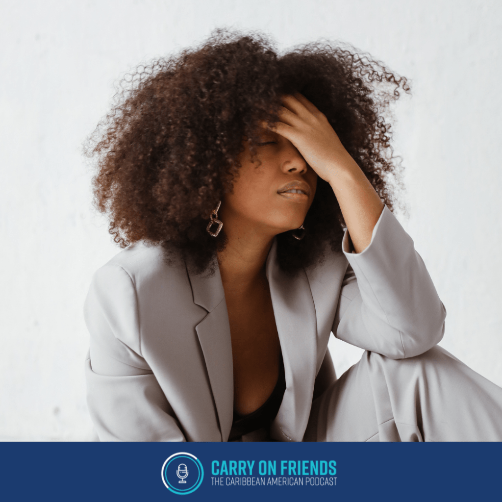 woman looking frustrated Carry On Friends Podcast The Burnout Struggle is Real